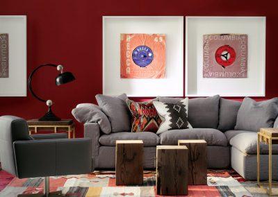 Truman Jnr Grey Linen, Blanket & Mohave Grey Cshs, Nicholson Stools, Anders Chair & Breuer Sides