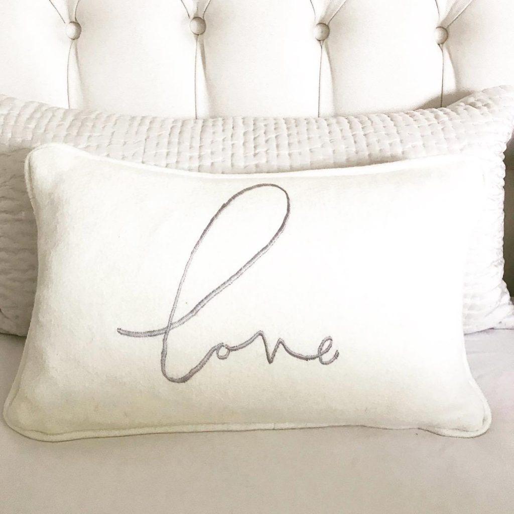 Rainbow Love Cushion